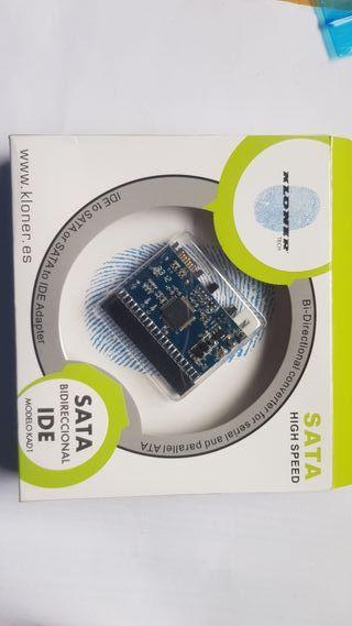 Adaptador de disco duro SATA a IDE ó IDE a SATA.