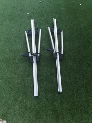 2 portabicicletas para barras techo
