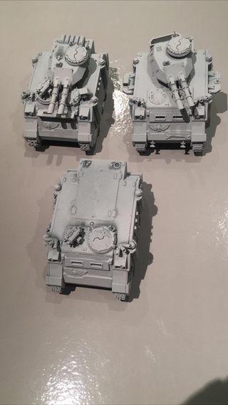 x2 predator x1 rhino + espuma warhammer 40k