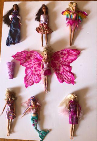 Muñecas Barbies + ropa + zapatos + complementos
