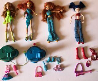 Muñecas Winx Club +ropa + accesorios