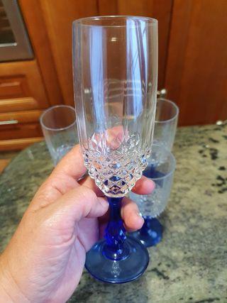Juego copas de cristal