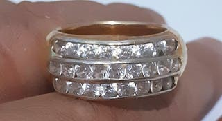 Anillo oro 18 k y diamantes
