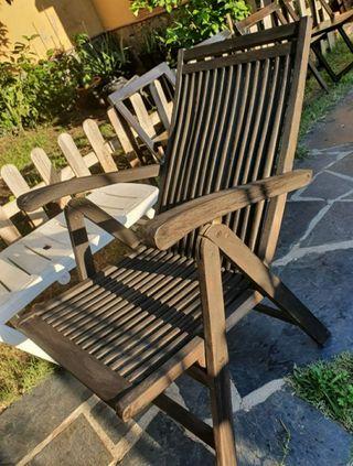 """silla tumbona de teca autentica""""Qutdoor Forniture"""""""