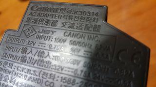 fuente canon k30314 32v 0.75A y 24v 0.5A DC