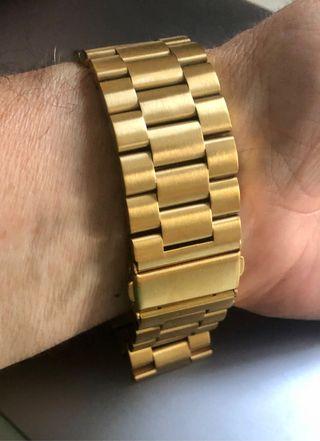 Correa dorada de acero para Apple Watch