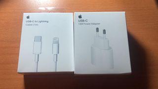 Adaptador usb c y cable Apple