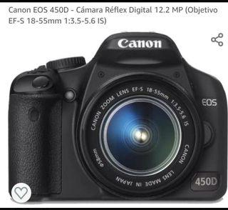CAMARA CANON. 450D con objetivo ES 18-55mm