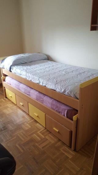 Doble cama con cajones