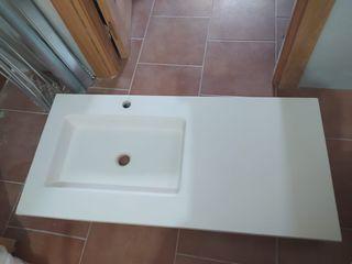 Lavabo con encimera