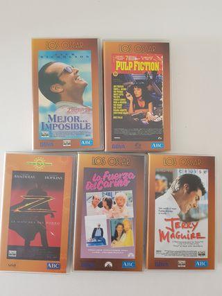 lote películas vhs 5 cintas