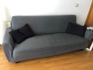 Sofa cama con almacenamiento negro conforama