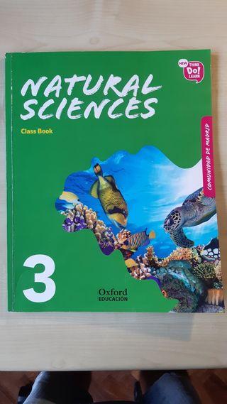 Libro de Natural Sciences de tercero de primaria