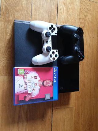 Ps4 500gb + 2 mandos + FIFA 20