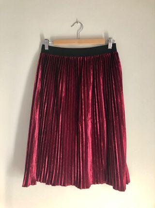 Falda midi de Zara