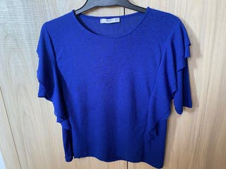 Camiseta MANGO xs azul