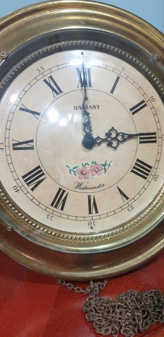 reloj de pared Radiant westminster,vintage,pendulo