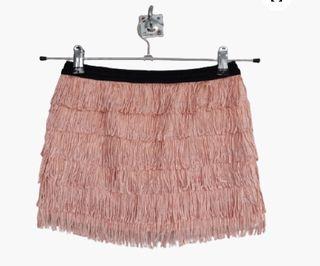 Falda mini rosa Zara