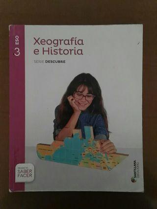 Libro e Atlas de Xeografía e Historia de 3 ESO