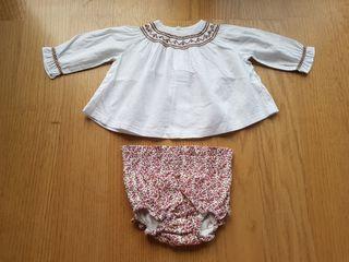 Conjunto bebé 3-6 meses: camisa y ranita de Gocco