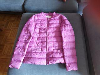 Abrigo plumas rosa niña talla 13 14 de Mango