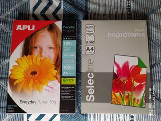 Pack de papel fotográfico brillante y matte