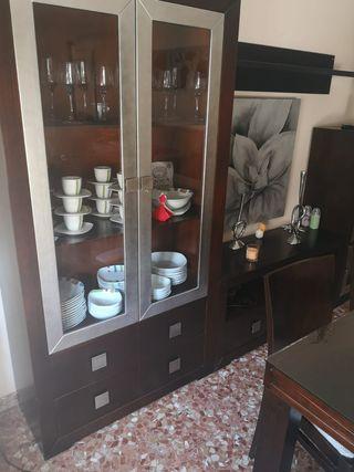 Conjunto muebles comedor de madera