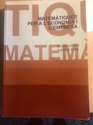Libro matemáticas per a l'economia i l'empresa
