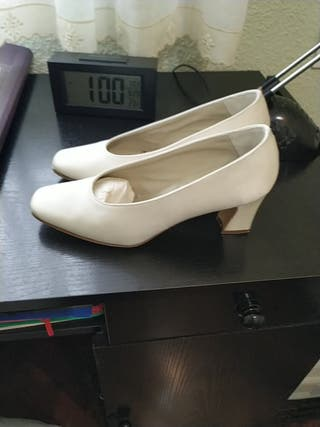Zapatos novia Piel,forrados