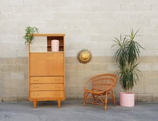 Mueble vitrina / secreter, Francia 60s.