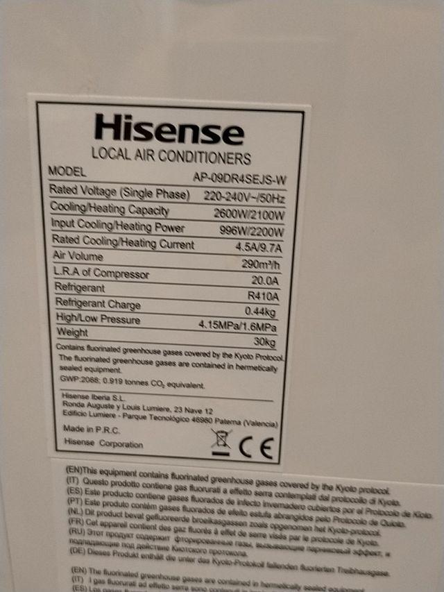 aire ácondicionado y calefacción portátil