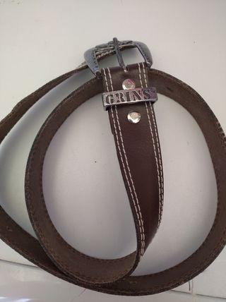 Cinturón de cuero Grins