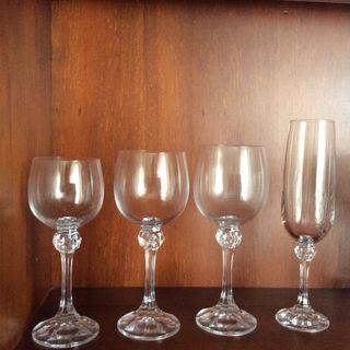 43 Copas de cristal de bohemia