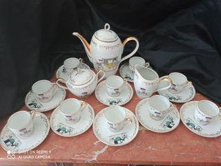 juego de café de porcelana hager