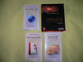 Lote de 4 libros de programación web