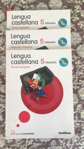 lengua castellana 5 primaria 3 libros santillana