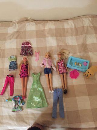 Barbies mas accesorios