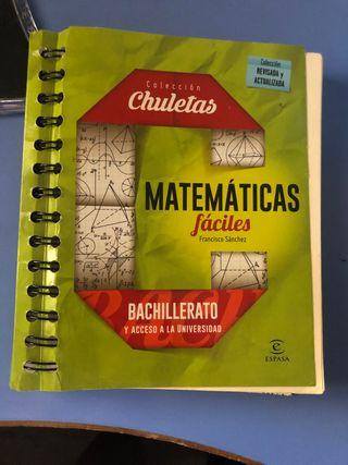 Libro Matemáticas fáciles bachillerato