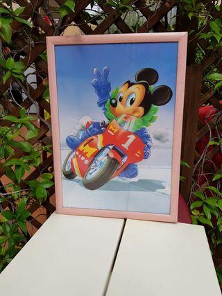 Cuadro Mikie Mousse en moto