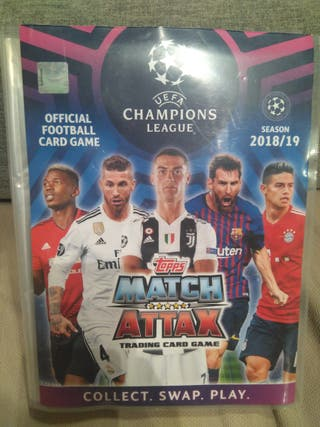 album cartas match attax + 300 cromos