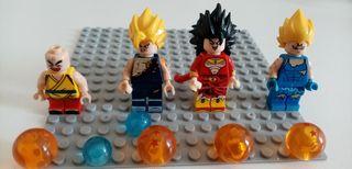 Lego Dragon ball Z 4 figurines