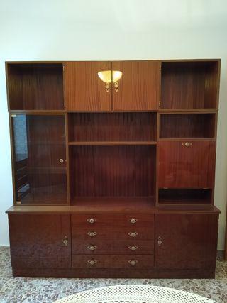 mueble salon retro + mesa televisión.