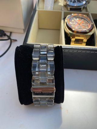 Reloj Michael Kors transparente mujer