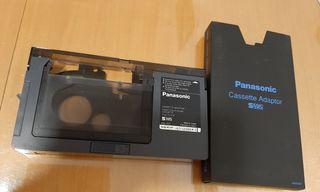 adaptador de cintas Panasonic de VHS para vídeo