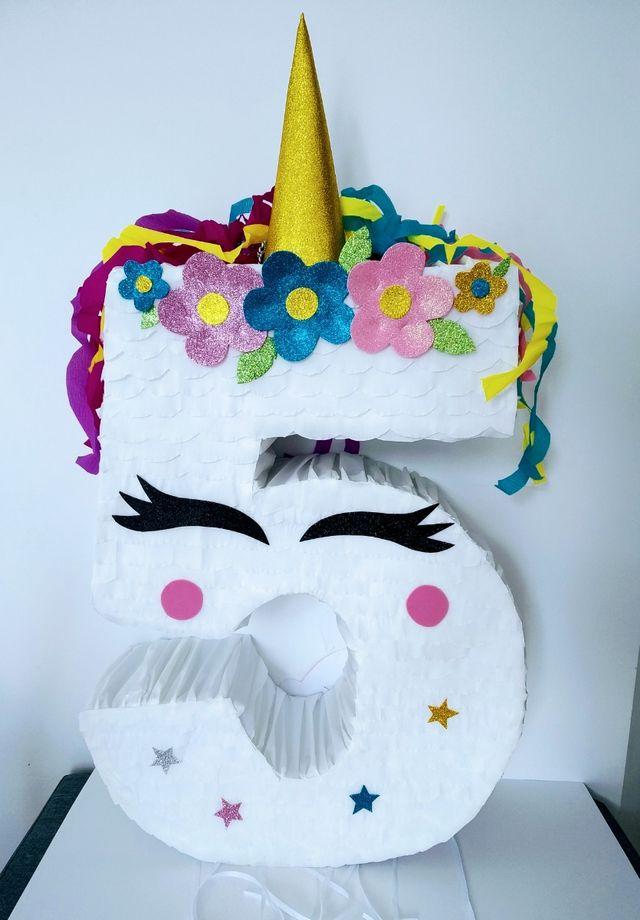 piñata cumpleaños unicornio