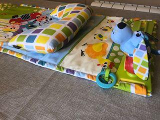 Cojín alfombra juego bebé psicomotricidad