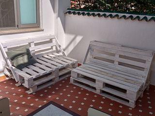Conjunto sofás de palets