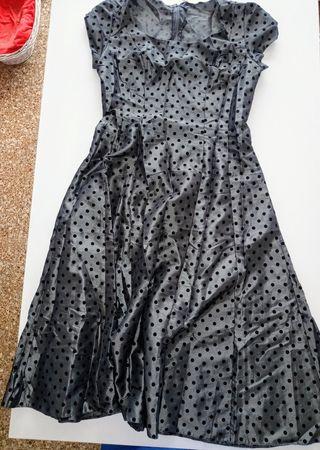 vestido vintage estilo años 50 - 3 € talla 38-40