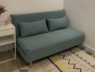 Sofá cama verde agua (2 plazas) - Maisons du Monde