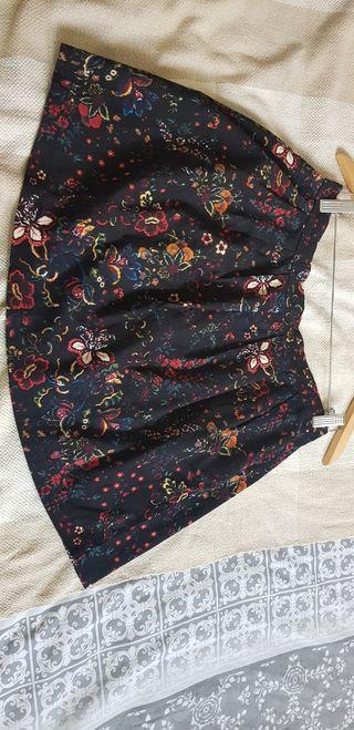 Falda mini de flores